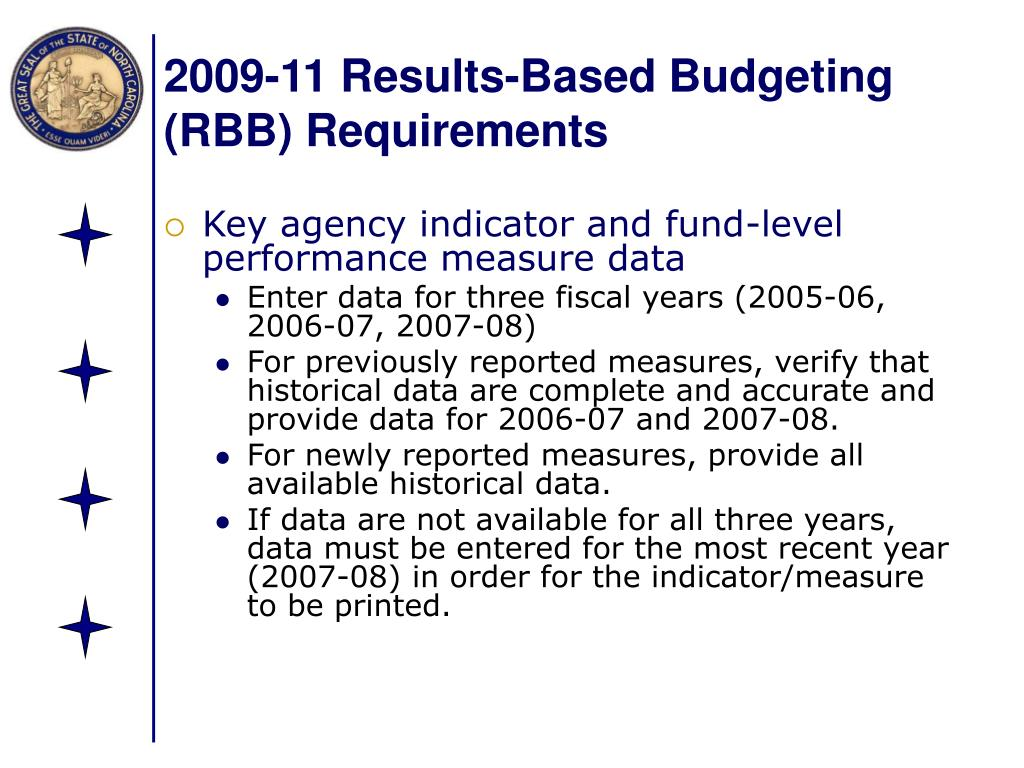 2009-11 Results-Based Budgeting (RBB) Requirements