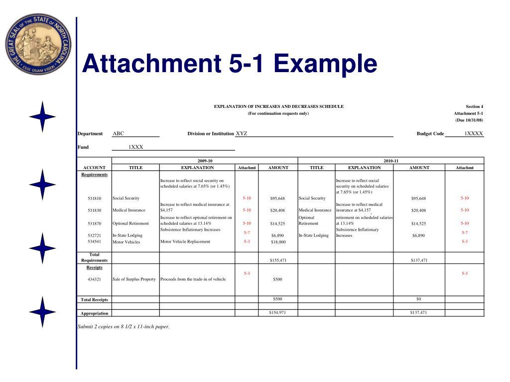 Attachment 5-1 Example
