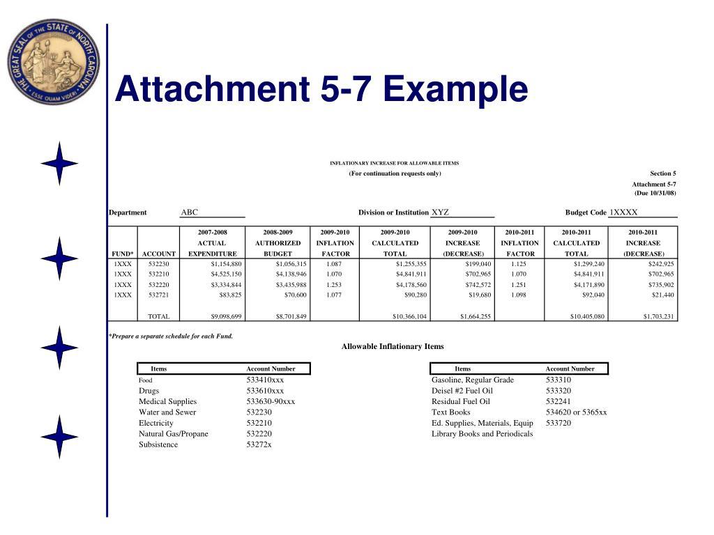Attachment 5-7 Example