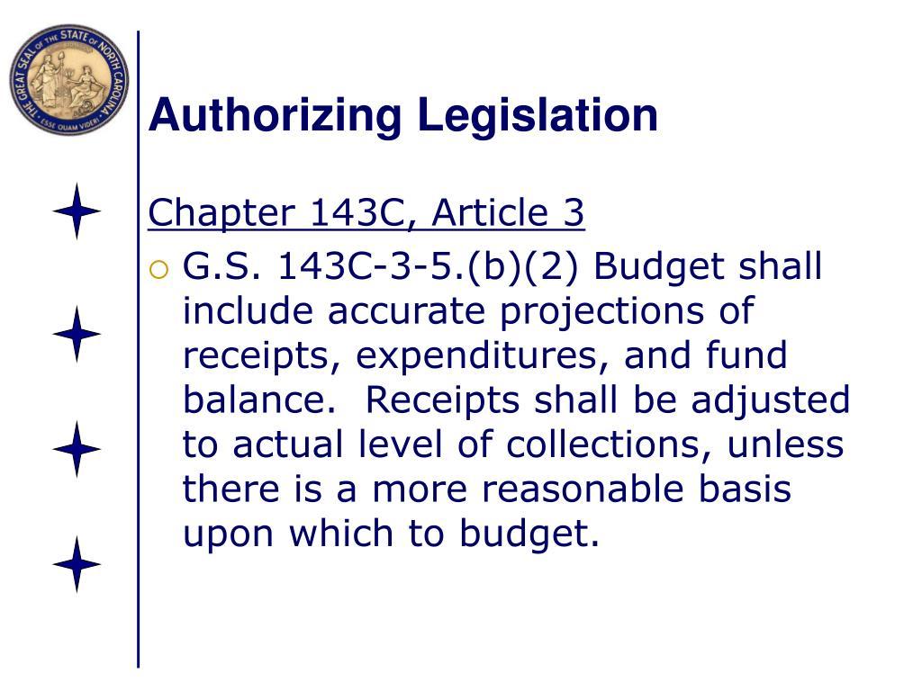 Authorizing Legislation