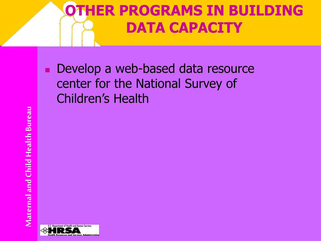 OTHER PROGRAMS IN BUILDING DATA CAPACITY