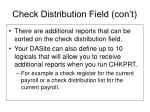 check distribution field con t