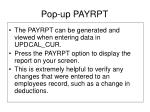 pop up payrpt