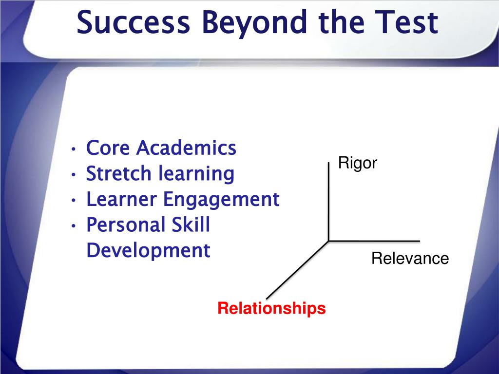 Success Beyond the Test