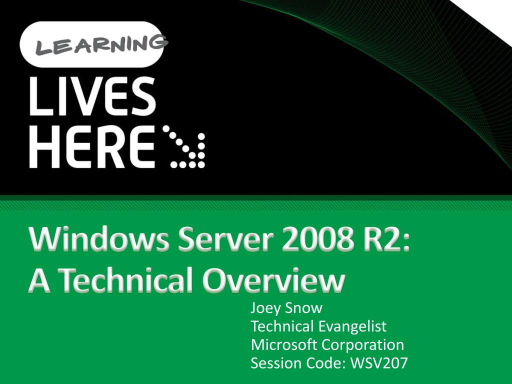 windows server 2008 r2 a technical overview