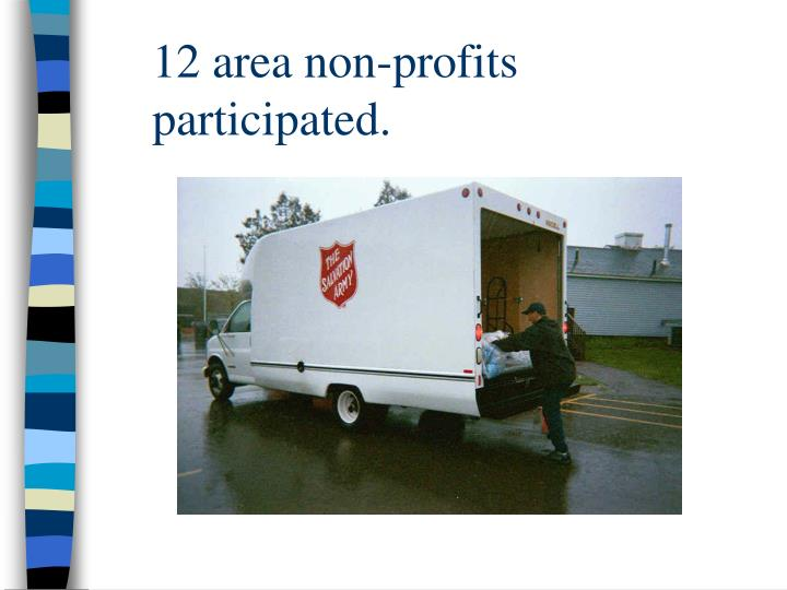 12 area non-profits participated.