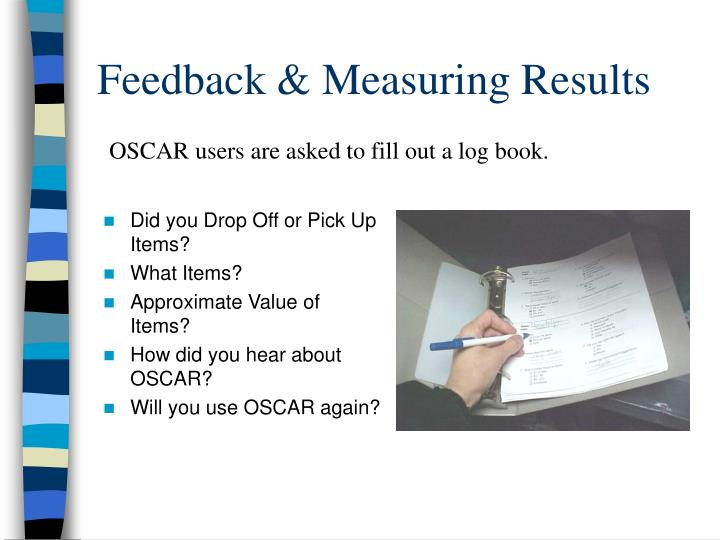 Feedback & Measuring Results