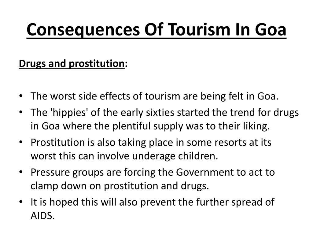 Consequences Of Tourism In Goa