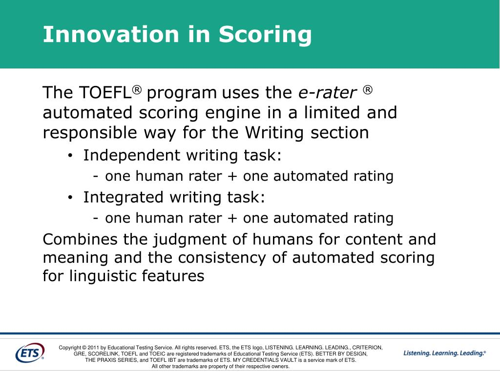 Innovation in Scoring