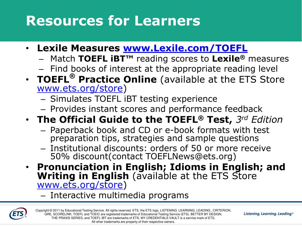 Resources for Learners