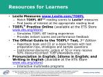 resources for learners20