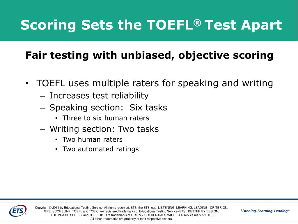 Scoring Sets the TOEFL
