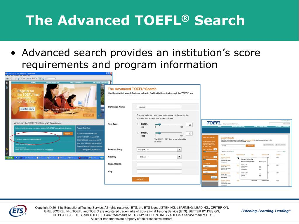 The Advanced TOEFL