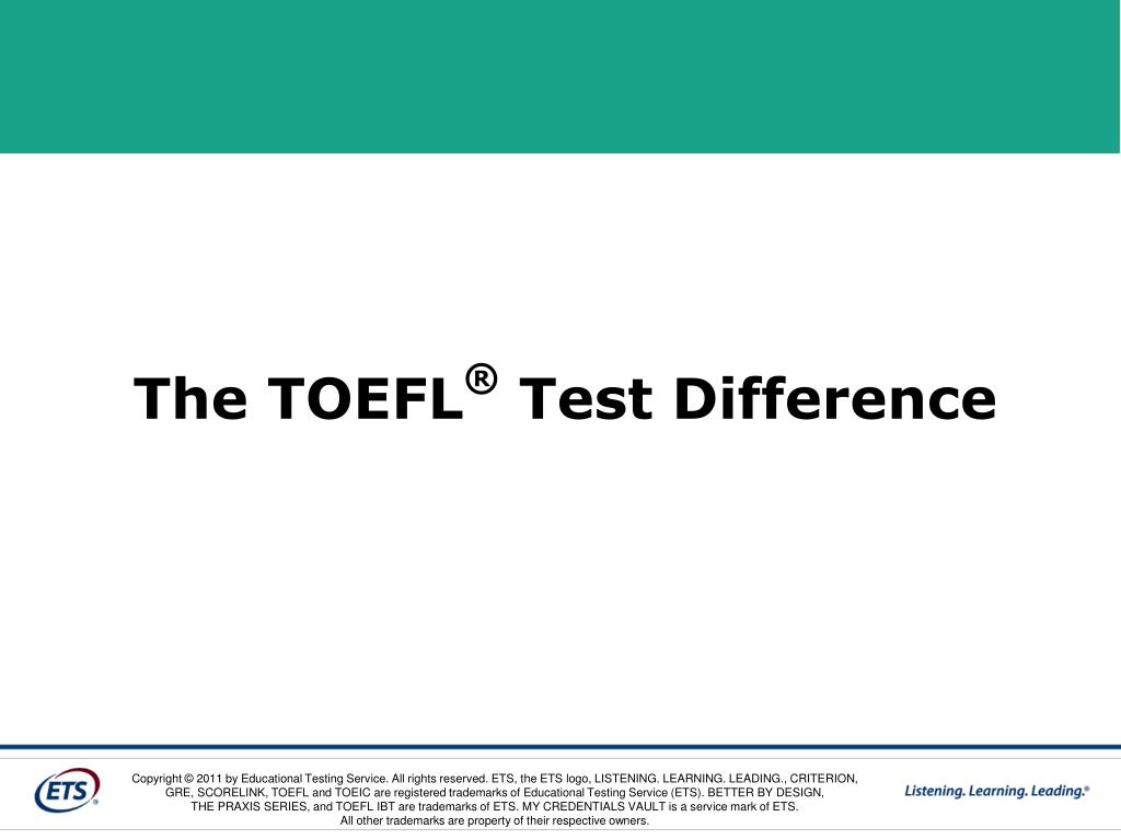The TOEFL