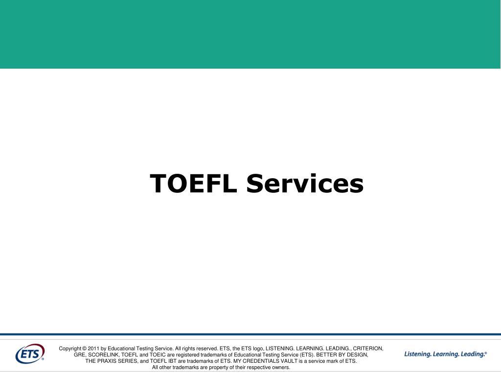 TOEFL Services