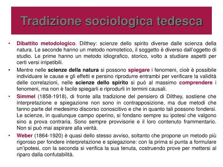 Tradizione sociologica tedesca