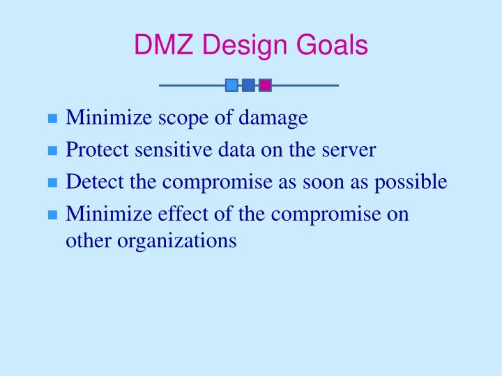 DMZ Design Goals