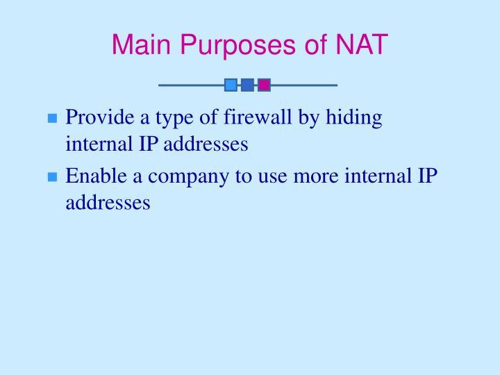 Main Purposes of NAT