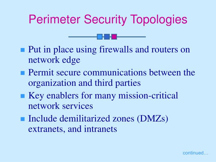 Perimeter Security Topologies
