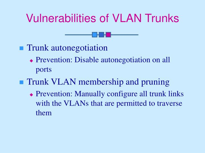 Vulnerabilities of VLAN Trunks