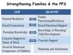 strengthening families the pfs