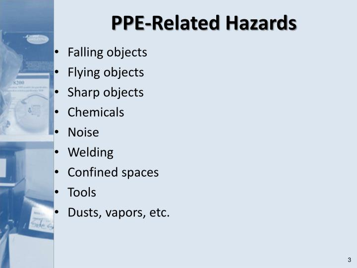 Ppe related hazards l.jpg