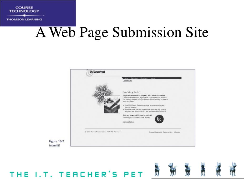 A Web Page Submission Site
