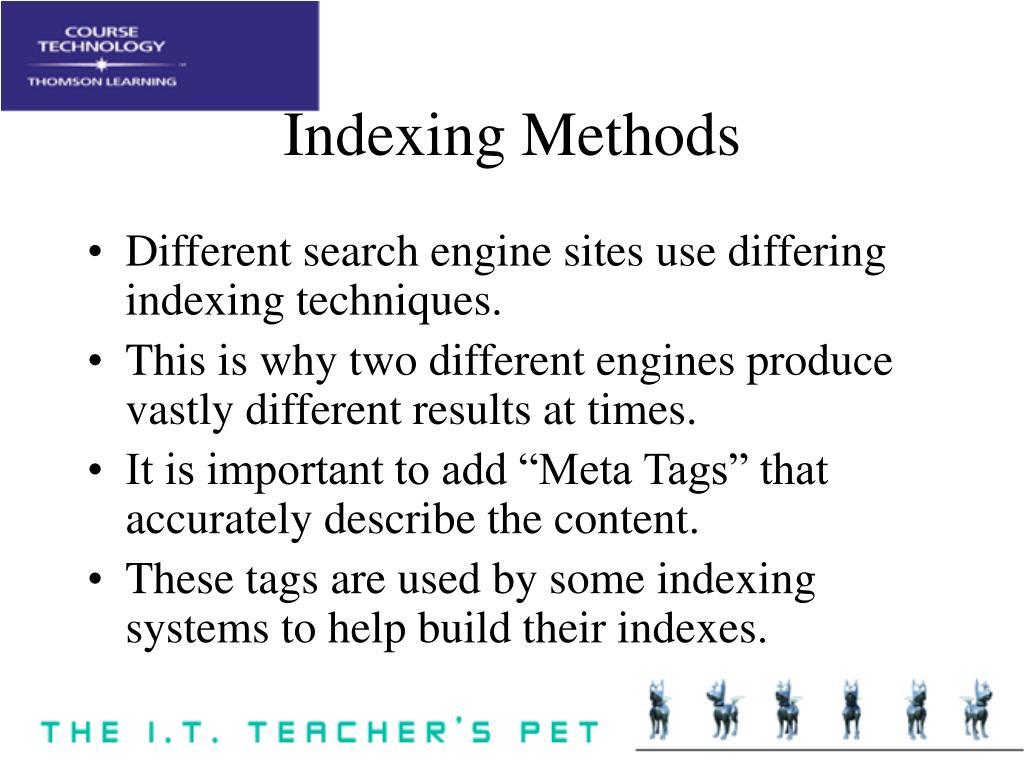 Indexing Methods
