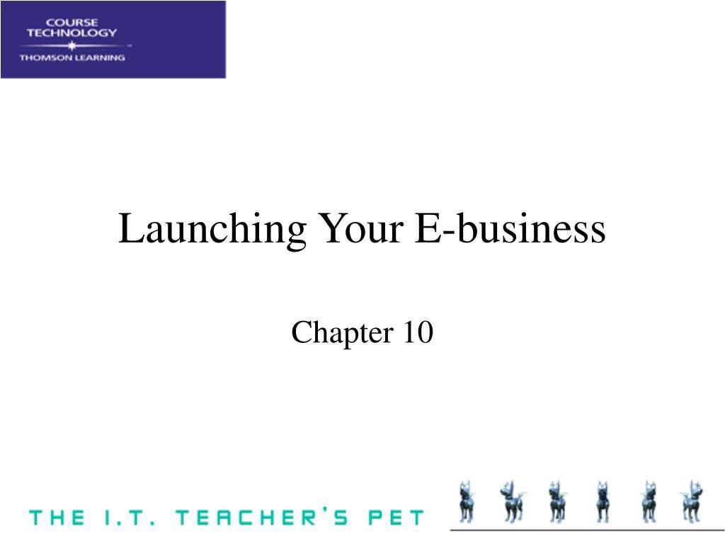 Launching Your E-business