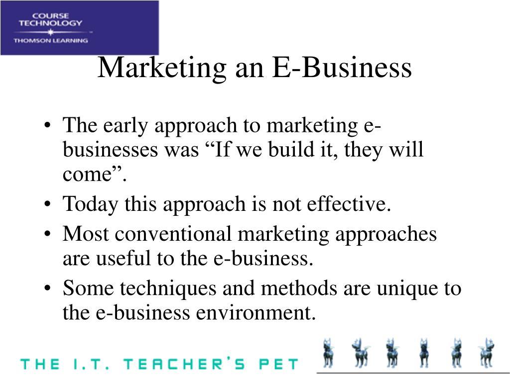 Marketing an E-Business