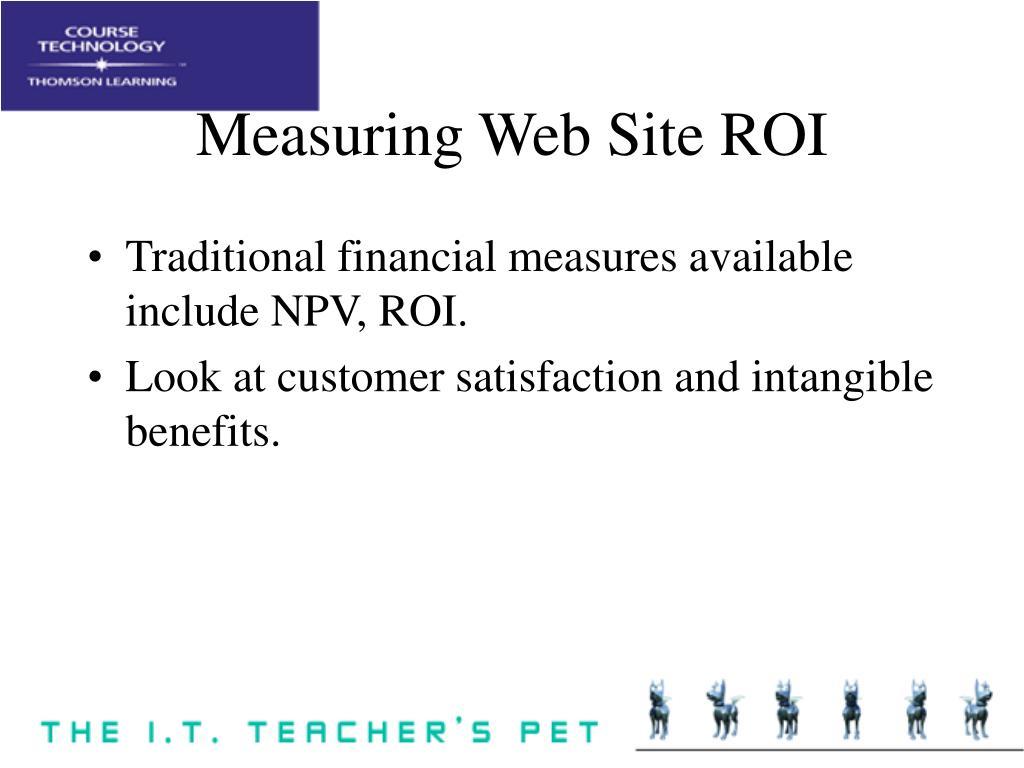 Measuring Web Site ROI