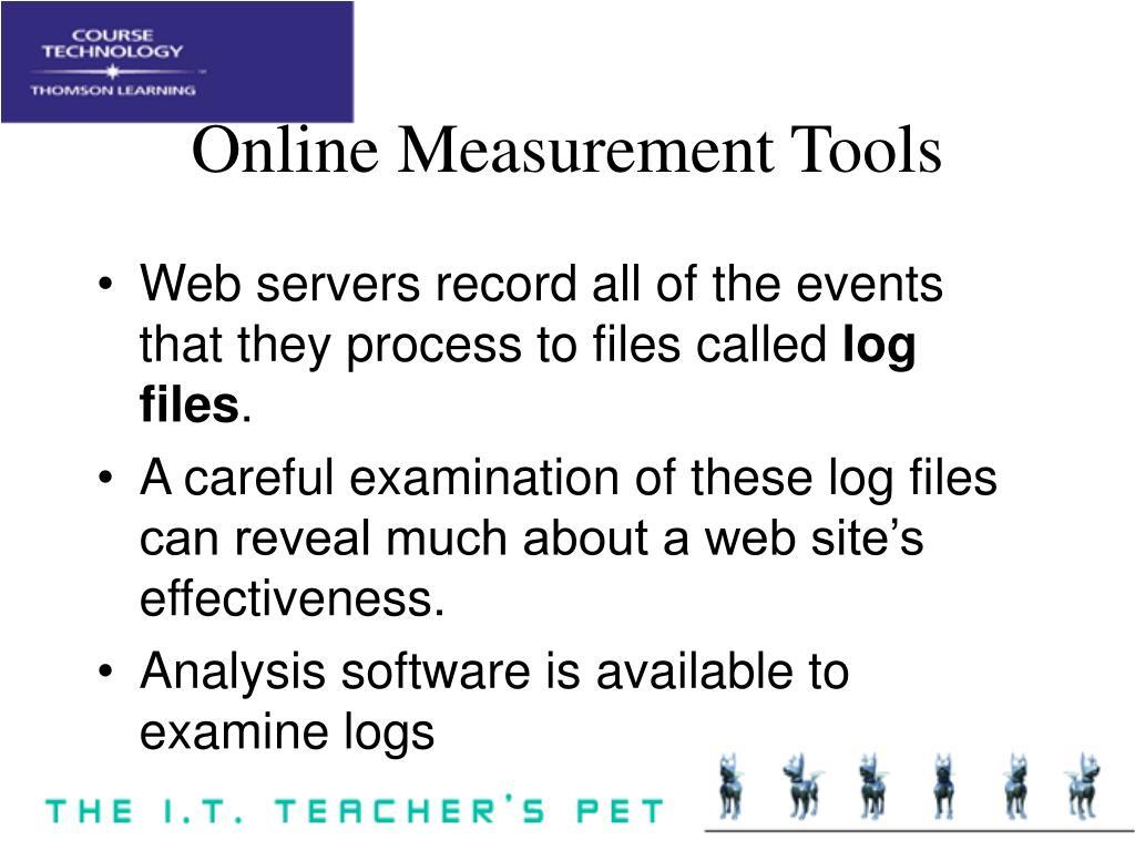 Online Measurement Tools