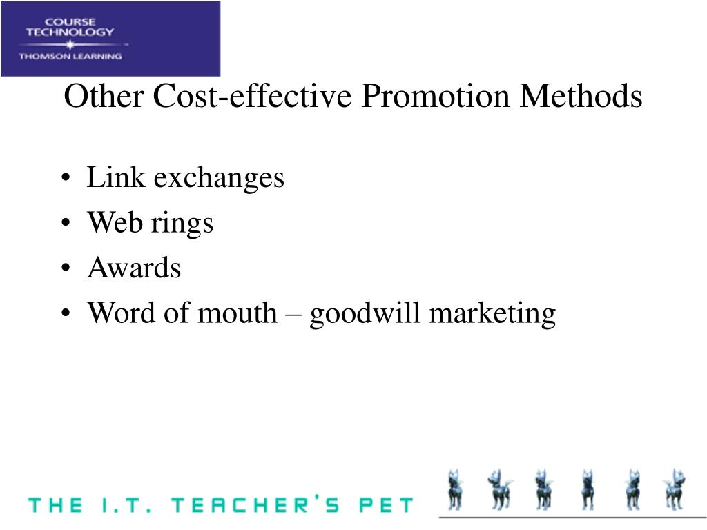Other Cost-effective Promotion Methods