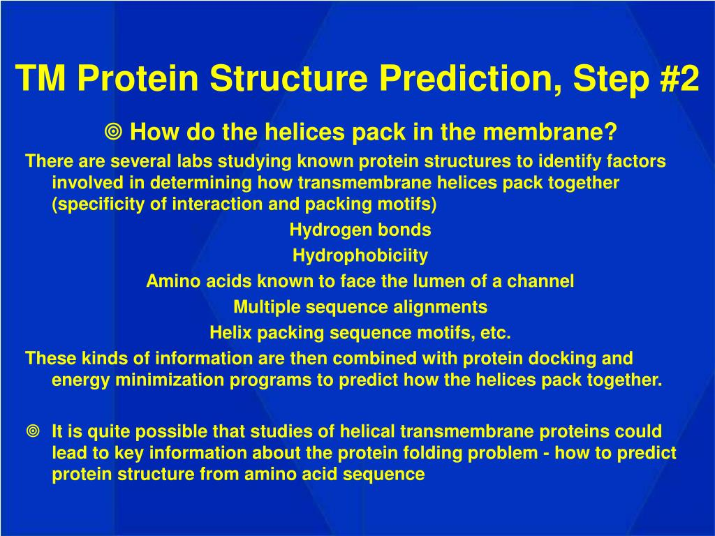 TM Protein Structure Prediction, Step #2