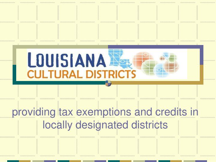 Louisiana cultural districts