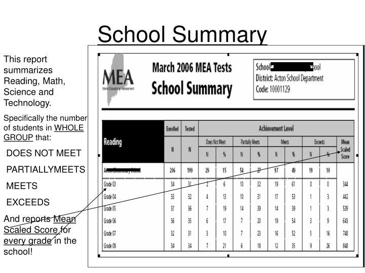 School Summary