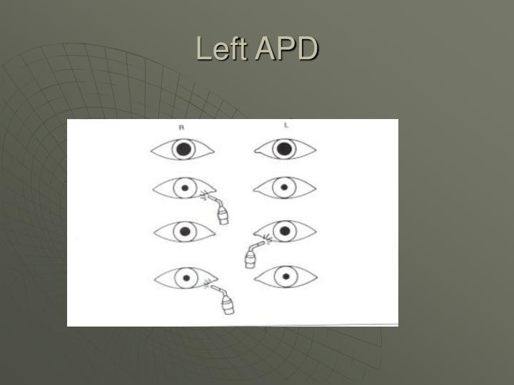 Left APD
