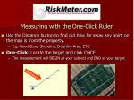 measuring with the one click ruler