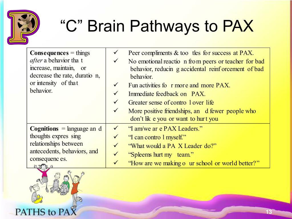"""C"" Brain Pathways to PAX"