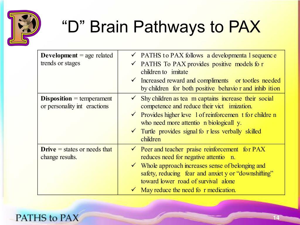 """""""D"""" Brain Pathways to PAX"""