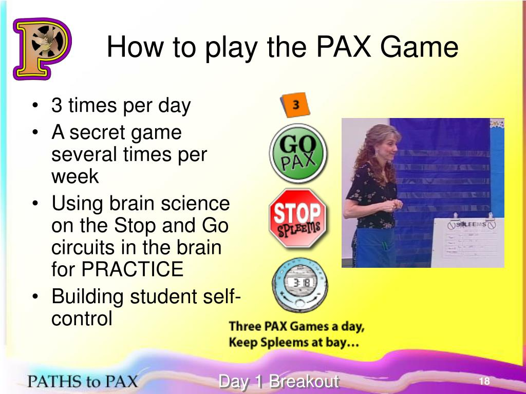 How to play the PAX Game