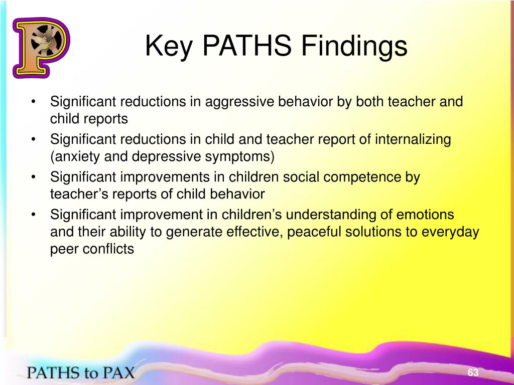 Key PATHS Findings