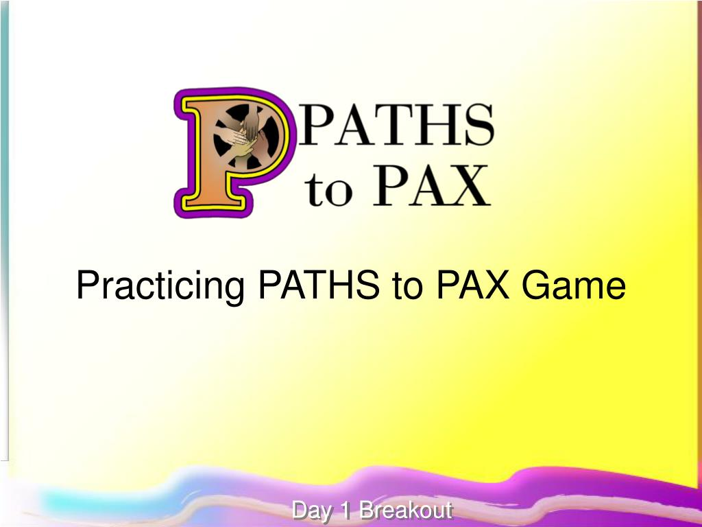 Practicing PATHS to PAX Game