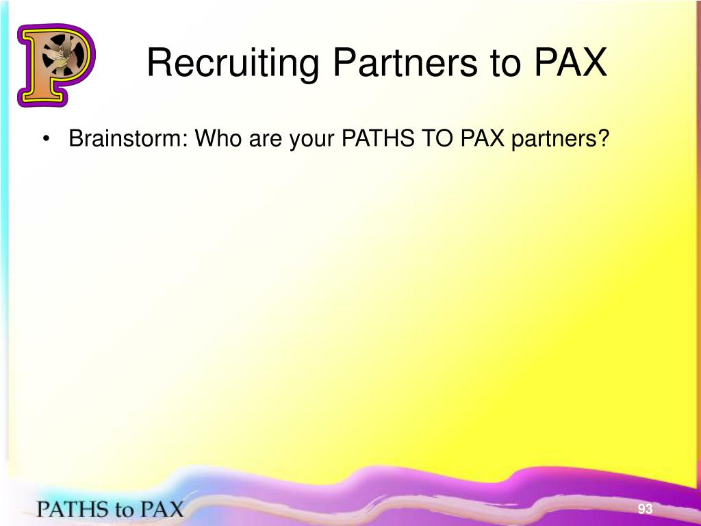 Recruiting Partners to PAX