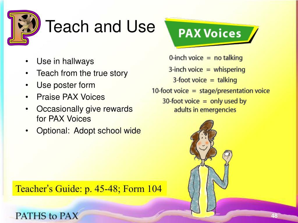 Teach and Use
