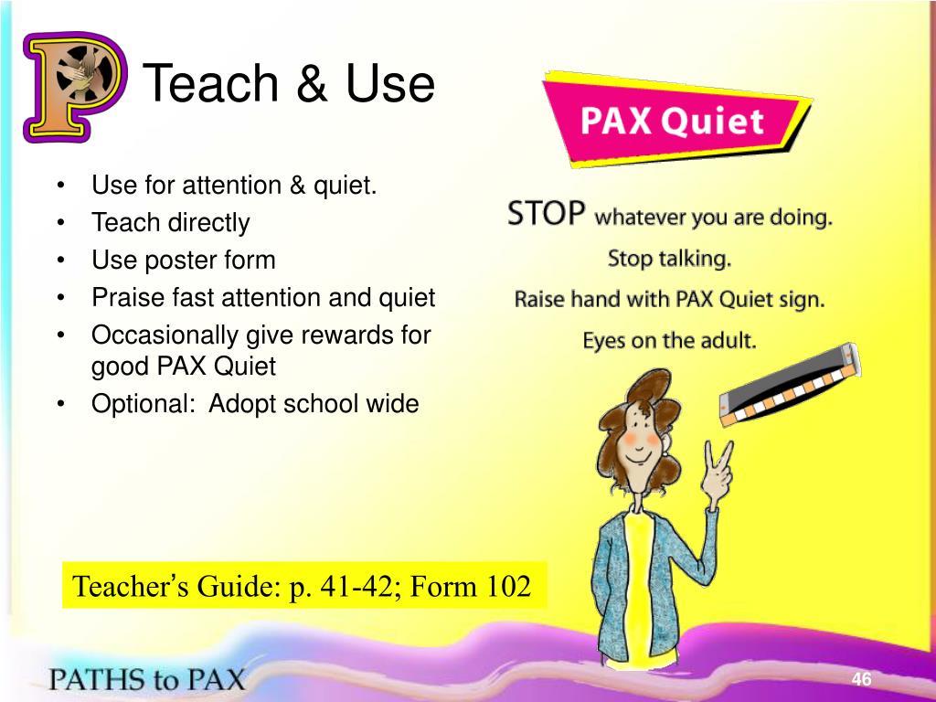 Teach & Use