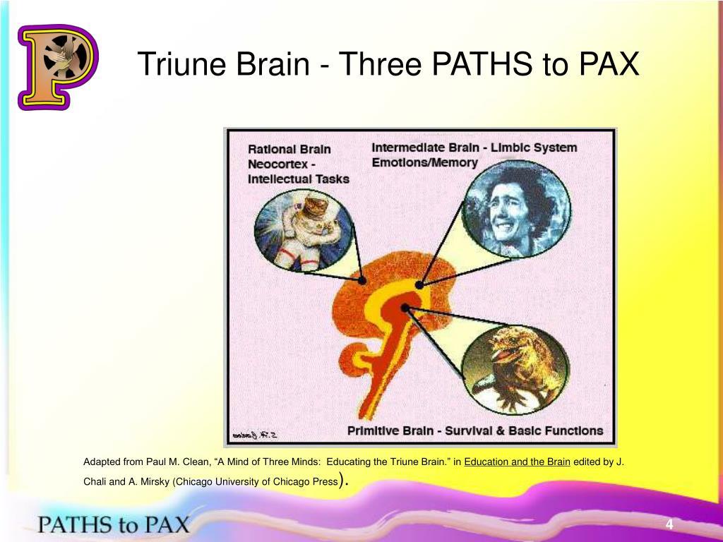 Triune Brain - Three PATHS to PAX