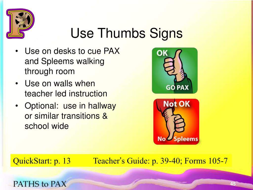 Use Thumbs Signs