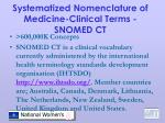 systematized nomenclature of medicine clinical terms snomed ct
