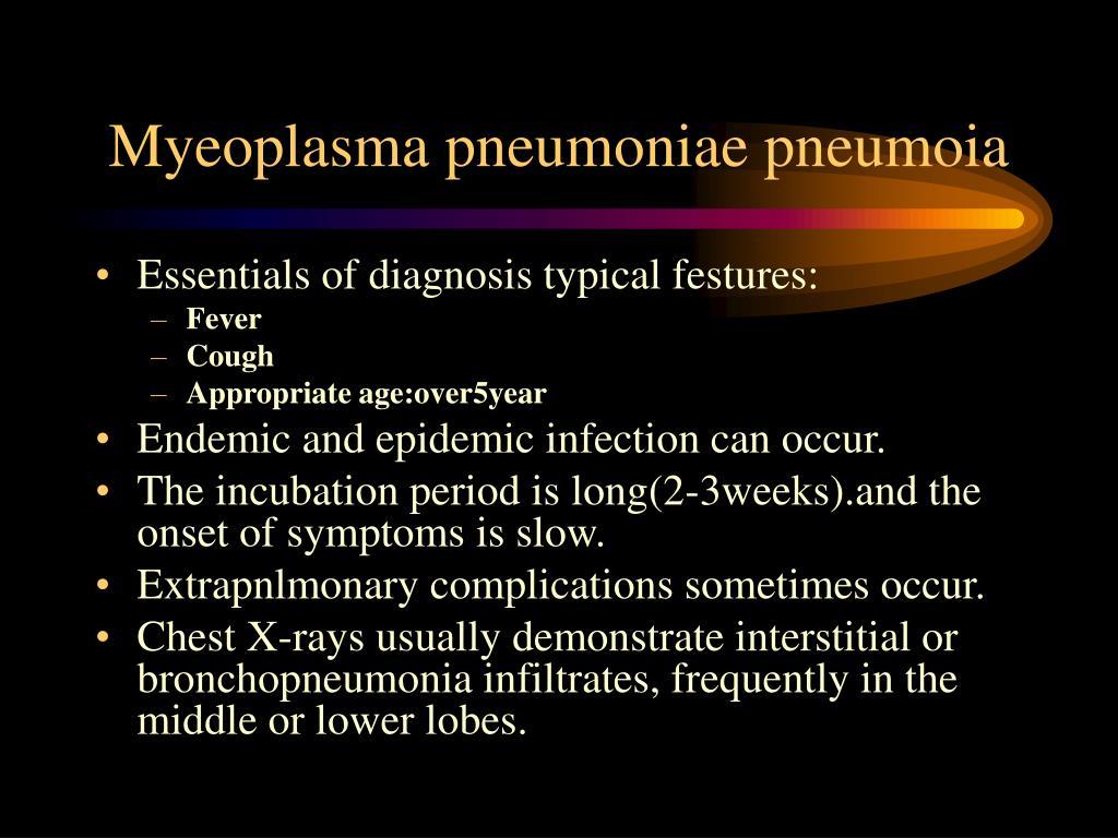Myeoplasma pneumoniae pneumoia